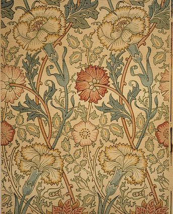 """Morris wallpaper """"Pink and Rose"""" 1890 via Apartment Therapy"""