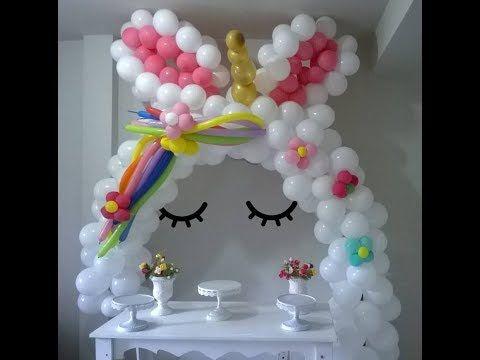 Montagem Da Festa Unicornio Como Fazer Arco De Baloes 1º Parte