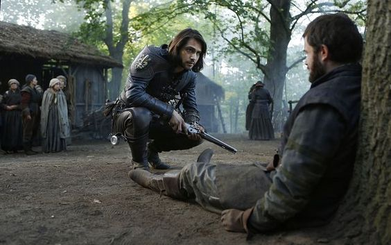 The Musketeers series 3x7. D'Artagnan: Give him a gun. BBC/ Dusan Martincek.