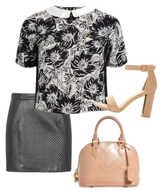 """Untitled #76"" by lookdodia00 on Polyvore featuring Topshop, Neon Rose and Louis Vuitton"