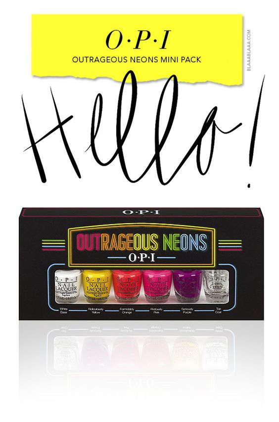 The OPI Outrageous Neons Mini Pack