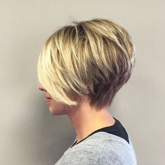 Bobs kurze blonde Haare and Fransen on Pinterest