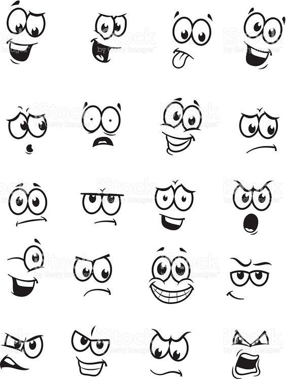 Набор из 20 cartoon faces Набор из 20 cartoon faces — стоковая векторная графика и другие изображения на тему В экстазе Стоковая фотография