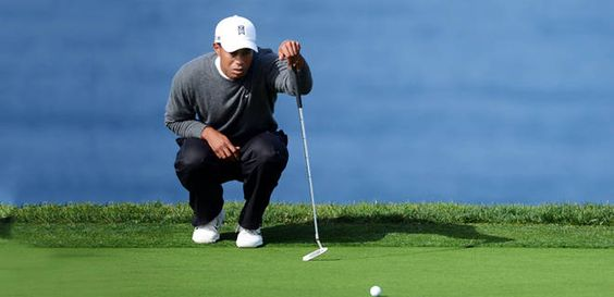 Tiger Woods was locked in on Sunday -- in both rounds. He walked off Torrey Pines Golf Course (due to heavey fog) with a six-shot lead and only 11 more holes between him and winning on course for the eighth time in his pro career. Good luck Tiger!