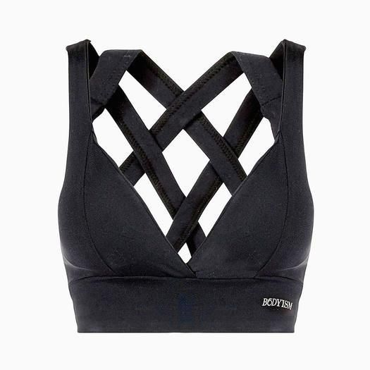 Look stylish and chic in this black workout gear. These clothes are fun and functional. Wear these trendy and fashionable clothes at the gym or wear them around town.