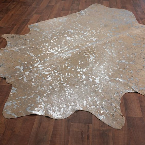 DIY Cowhide Rug From A Drop Cloth