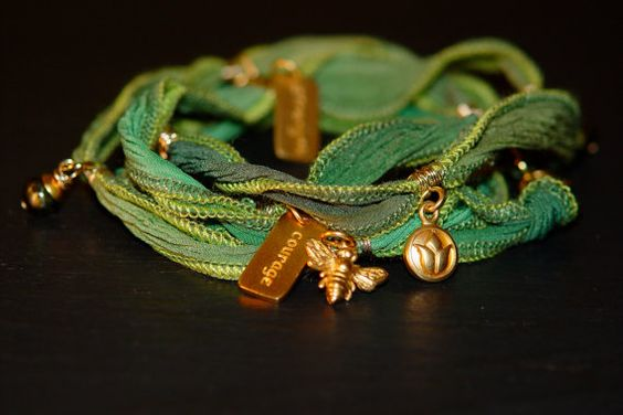 Summer's Bloom warrior wrap with gold hand dyed by alccreations, $232.00