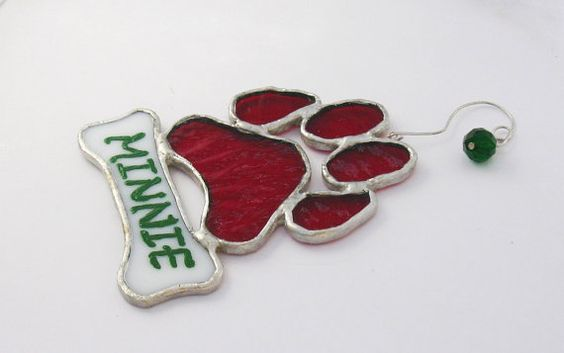 Dog Paw Prints Dog Paws And Stained Glass Christmas On