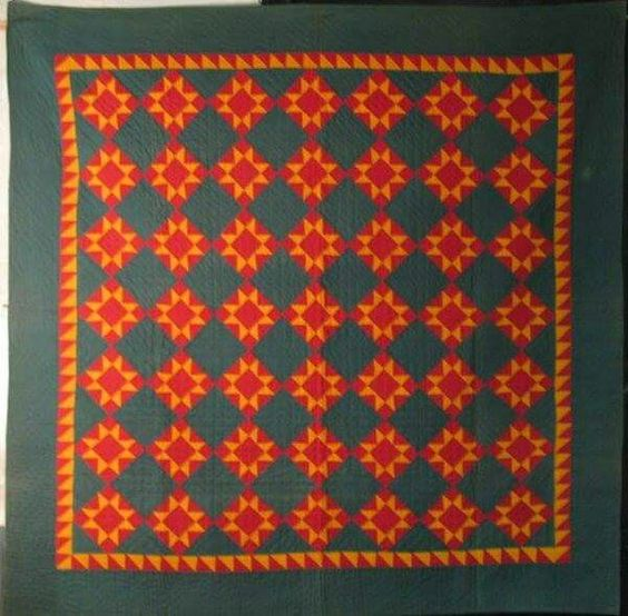 Mennonite Star late 19th century. Laura Fisher Quilts