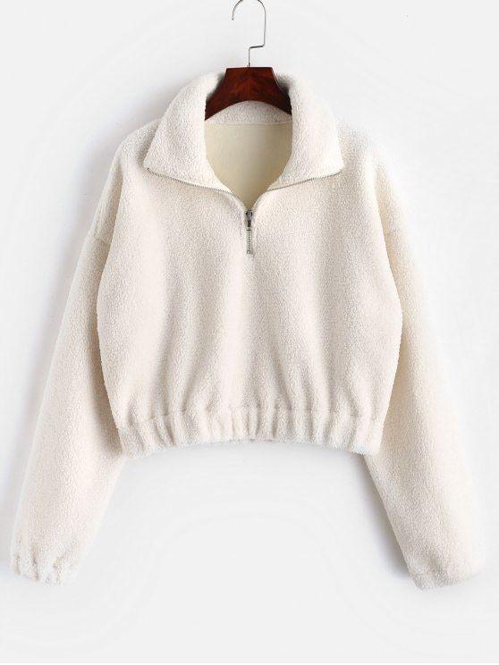 ZAFUL Women Fluffy Sweater Top Hoodie Sweatshirt Ladies Hooded Pullover Jumper