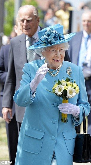 Enjoying the day: The Queen and Prince Philip looked delighted with the warm reception the...