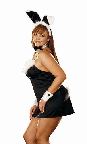Dreamgirl Women's Fantasy Wear Plus Size Bunny, Black/White,3X/4X >>> Click on the image for additional details.
