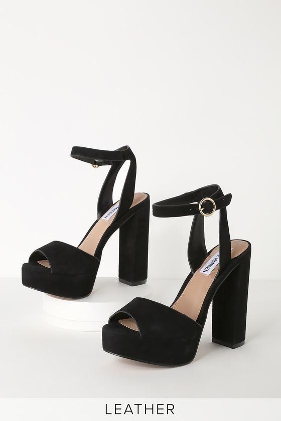 Lulus Madeline Black Suede Leather