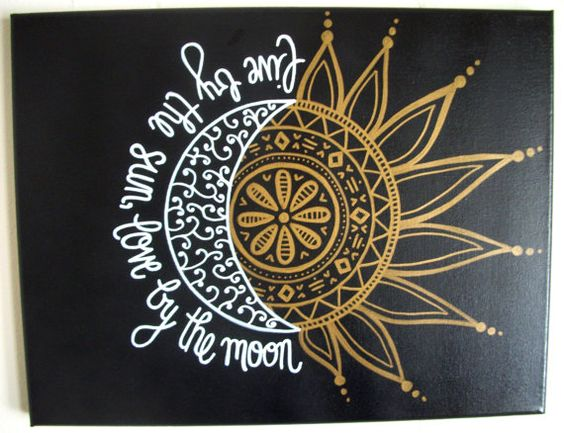 11x14 CUSTOM Painted Canvas  Live By The Sun Love by StyleCanvas