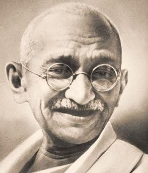 """""""A man is but the product of his thoughts what he thinks, he becomes.""""  Mahatma Gandhi"""