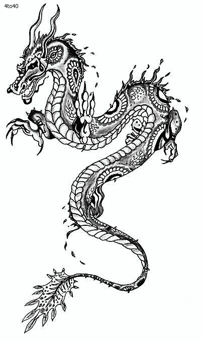 Simple chinese dragon tattoo designs