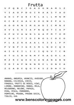 Printables Italian Language Worksheets fruit themed word search in italian language kid and family language