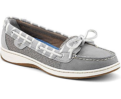 bretton striped angelfish boat shoe grey leather