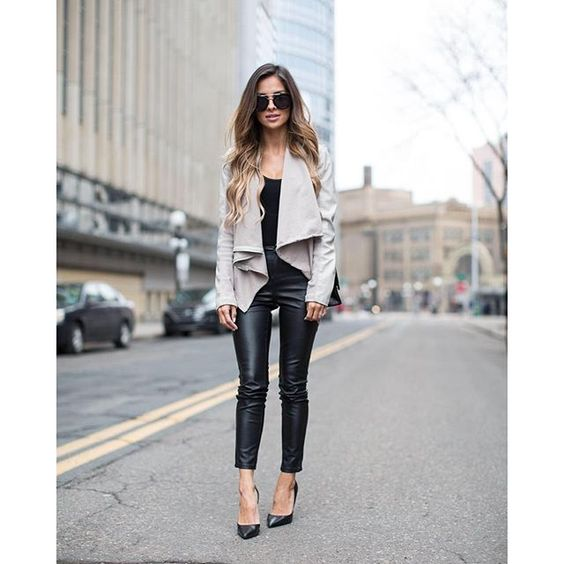 """@miamiamine's photo: """"Today on the blog wearing my fave leather pants - which just got restocked in all sizes.  @liketoknow.it www.liketk.it/29fdy #liketkit #ontheblog #ltkunder100 #leatherpants"""""""