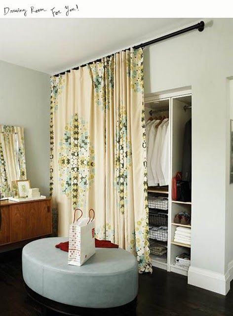 Use curtains or fabric to create a partition across the eaves and ...