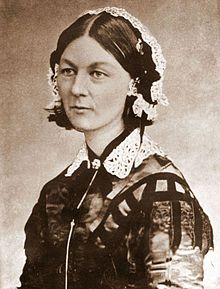 Florence Nightingale - pioneer of nursing, she nursed in the Crimean War and spent the rest of her life promoting the establishment and development of the nursing profession and organizing it into its modern form.