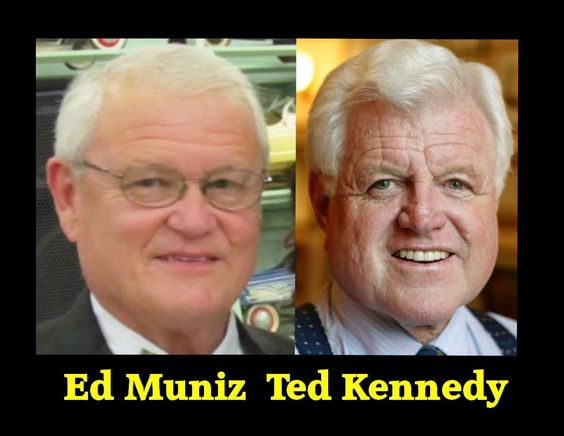 Jefferson Parish Councilman Ed Muniz is Ted Kennedy. Plus he is playing dozens of other famous politicians & celebrities.