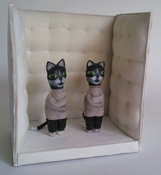 Straightjacket cats diorama. | // A D O R E D T H I N G S ...