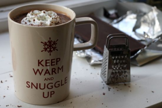 salted caramel vodka hot chocolate | london bakes. How precious is this grater?!