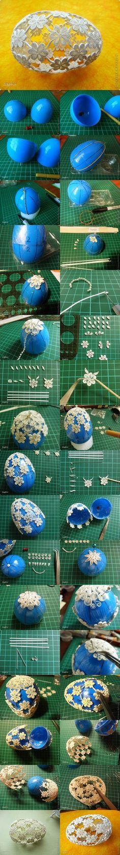 huevo en filigrana