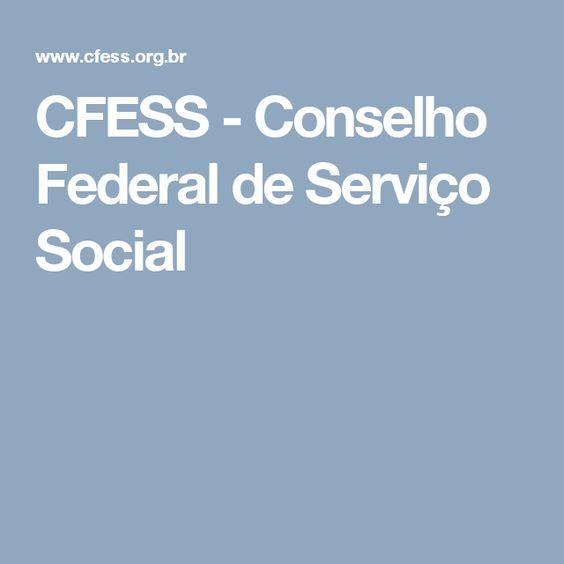 CFESS - Conselho Federal de Serviço Social