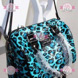 Bolsa Tipo Baúl Loungefly Animal Print Azul Hello Kitty