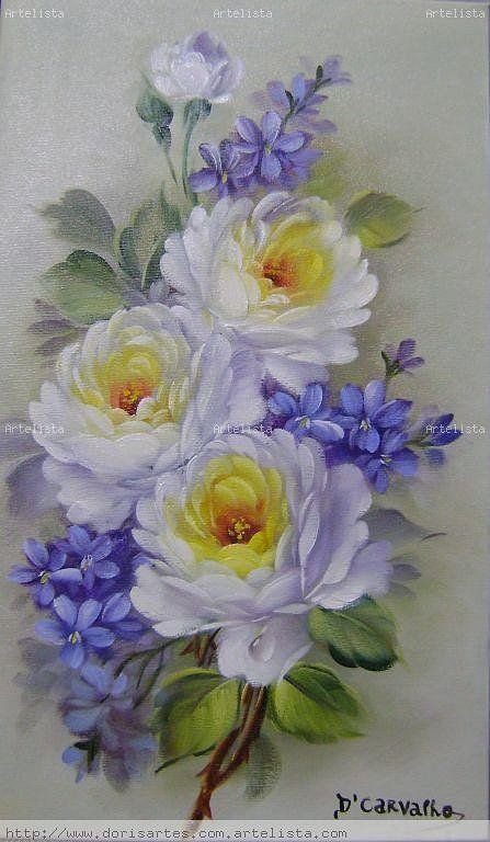 white roses: