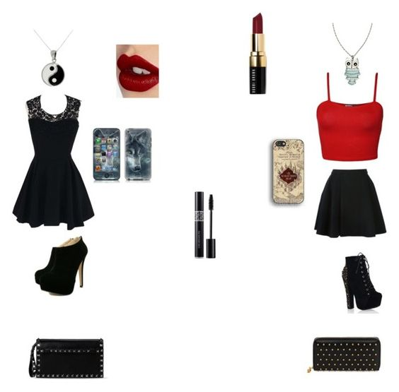 """""""girls night #2"""" by camiiwitch on Polyvore featuring moda, Charlotte Tilbury, Avelon, WearAll, River Island, Carolina Glamour Collection, Bobbi Brown Cosmetics, Alexander McQueen y Valentino"""