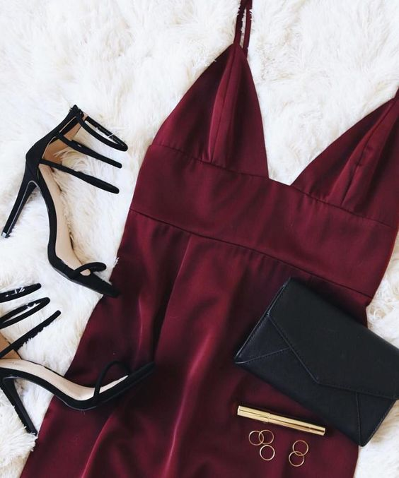 The NBD Heatwave Burgundy Dress is hot, hot, haute! Sleek satin fabric is ultra-luxurious as it forms seamed triangle cups, and a banded, empire waistline atop a sheath skirt with a modest length. #lovelulus