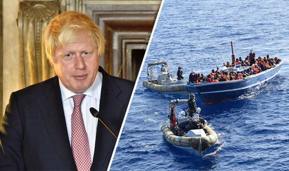 BORIS Johnson said boats full of migrants should be sent back to .Libya to stop…