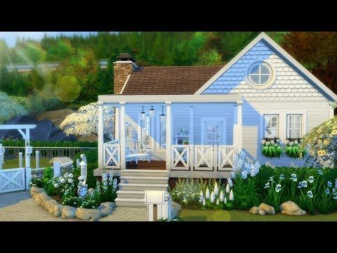 Writer S Retreat Brindleton Bay White Cottage The Sims 4 House Building Youtube Sims 4 House Building Sims 4 Houses Sims House