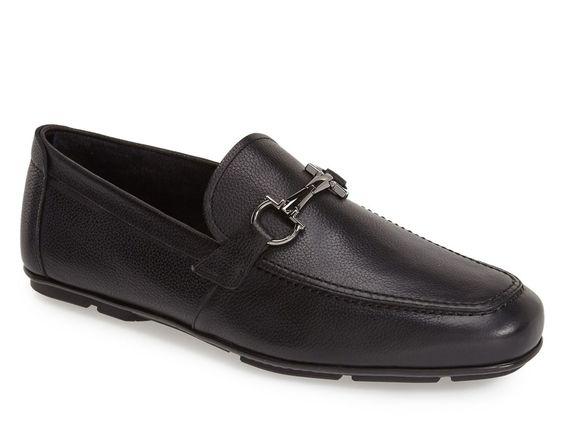 Salvatore Ferragamo driving loafers in black leather - Italian Boutique €266