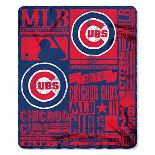 MLB Chicago Cubs Strength Printed Fleece Throw, 50-inch by 60-inch