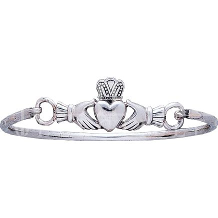 Irish Claddagh Silver Bracelet - PS-TBG273 by Medieval Collectibles