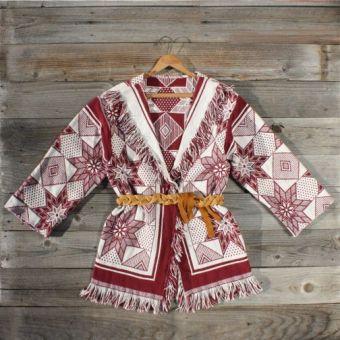 Vintage 70's Indian blanket coat
