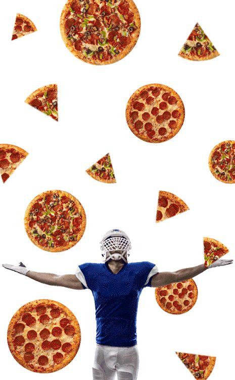 "Raining Pizza (Blue)"" by kirbeekatz | Redbubble"