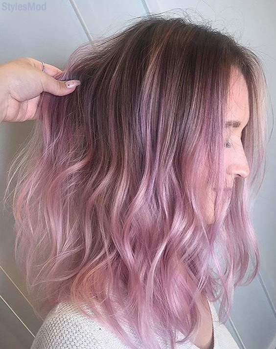Romantic Ideas Of Pink Hair Color Styles For Medium Hair Stylesmod Hair Color Pink Medium Hair Styles Celebrity Hair Colors