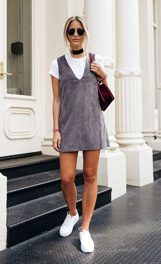Street style look com choker: