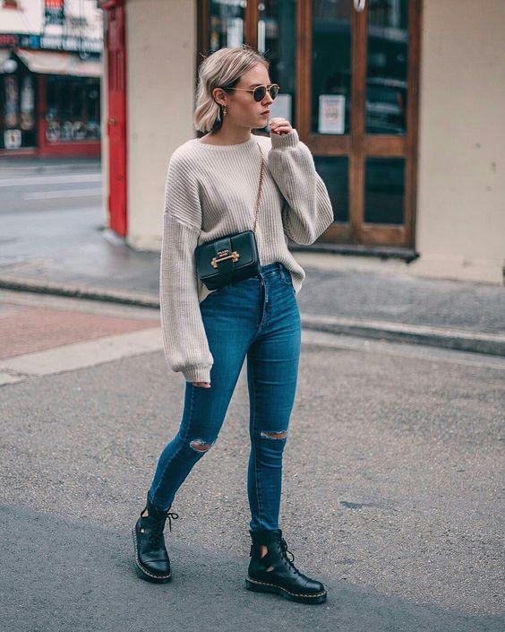 outfits con pantalón primavera