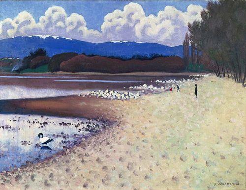 La plage à Vidy, Félix Vallotton, 1925