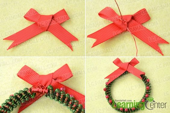 make Christmas wreath pattern