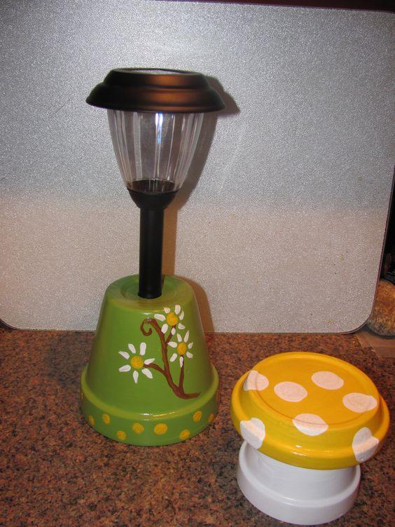 Solar landscaping light made by Angela | DIY FLOWER POTS ...
