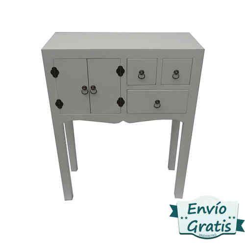 Recibidor vintage plata industrial en madera mdf http for Muebles en madera mdf