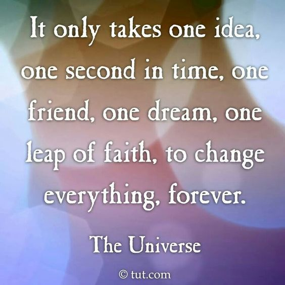 It only takes one. ....
