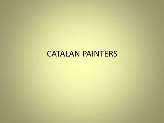 Pintores Catalanes